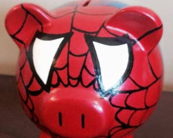 Spider man piggy bank