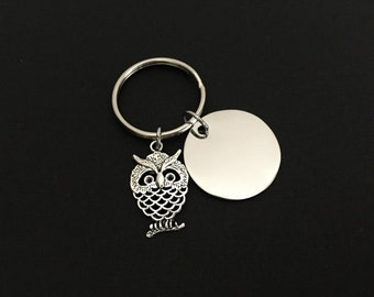 Owl Key Chain. Personalized Wise Owl Key Chain. Teachers Appreciation Gift. Teacher's Day Gift. End of School Year Gift. Teacher Gift