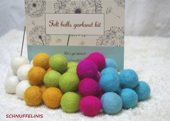 how to make felt balls for garland
