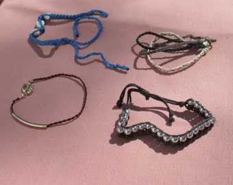 Lot Of Retro Assorted Rope Bracelets