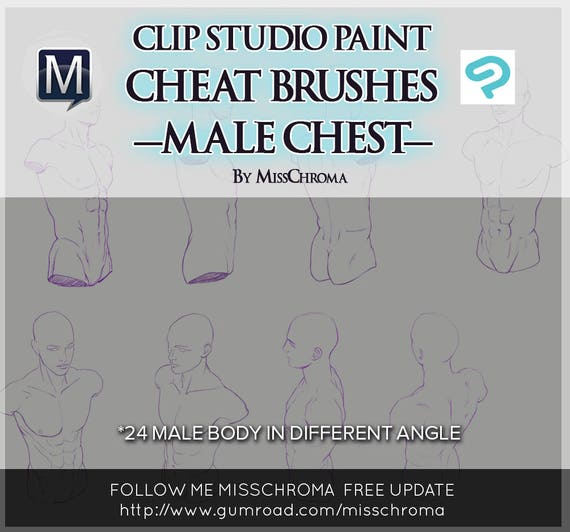 Cheat brushes for clip studio paint manga from