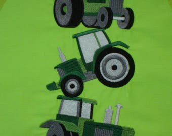 Apron, Kid's Apron, Child's Apron, Embroidered Apron, Tractor Stack Apron, Dad's Little Helper, Cook's Helper, John Deere Green