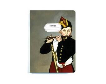 Édouard Manet 'The Fifer' A6 Notebook, Stationary, Art Notebook, Journal, Sketchbook, Blank Notebook, Art Teacher Gift, Cute Notebooks, Art