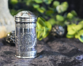 Antique Sterling Silver Pounce Pot - Sterling Silver Pepper Pot - R Blackinton & Co Sterling Silver 1800's
