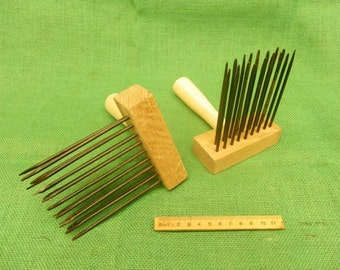anglo saxon viking medieval wool comb set of two living history craft use