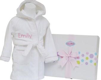 Personalized Baby Girl Bathrobe