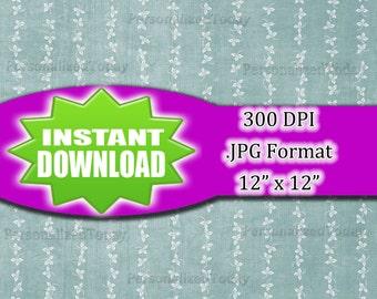Three Leaf Clover Flowers Digital Scrapbook File - 300 DPI - JPG File Format - 12x12 - High Resolution - INSTANT Digital Download - 0087