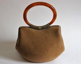 Vintage Morris Moskowitz MM Mad Hatter purse with Bakelite handle