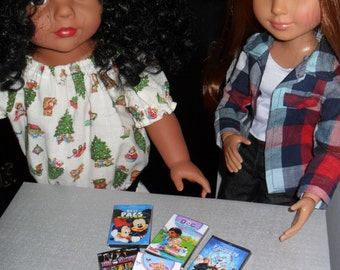 EXTRA Movies for TV's for 18 inch dolls.