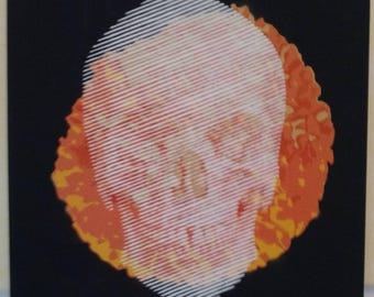 Halftone Skull on Merigold