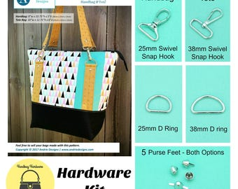 Classic Carry All Tote   – Andrie Designs - Hardware Kit