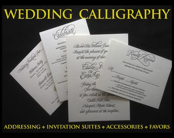 Calligraphy Addressing and Invitations For Your Wedding or Other Life Event