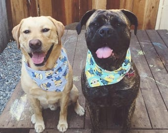 SPECIAL SALE EVENT Tie-On Dog Bandana Minions - XSmall/Small/Medium/Large/XLarge