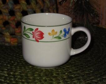 Set of 7 Farberware Stoneware Coffee Mugs / Stoneware Mugs / Farberware Coffee Cups / Farberware Dorchester / Dorchester Stoneware