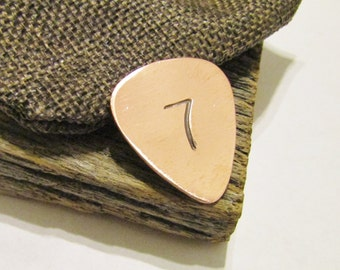 7 Year Anniversary Gift Bass Player 7th Anniversary Personalized Copper Guitar Pick Engraved Gift Guy Gift Husband Gift Idea Guitar Plectrum