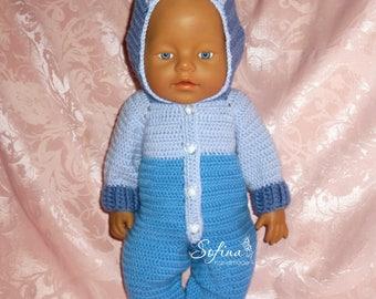Master class jumpsuit for dolls * Мастер - класс по вязанию комбинезона для кукол Беби Бон*