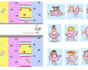 Downloadable ballet scrapbooking collection//gifts