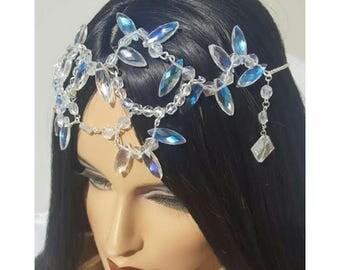 Headpiece, Bridal Headpiece, Prom, Crystal Headpiece, Head chain, Crown, Hair Jewelry, Boho head Chain,Head Chain, Couture, Diamond Headband