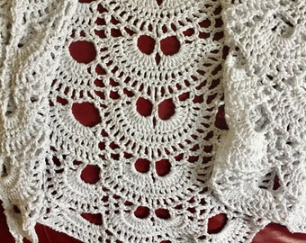 Shawl, Crochet  from 100% cotton