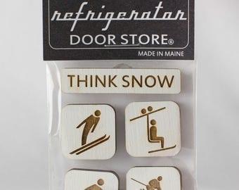 Refrigerator Magnet. Fridge Magnets. Kitchen Magnets. Kitchen Decor. Magnets. Think Snow.