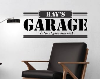 Personalize Garage decal....Sharp decal motivational home decor