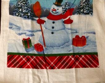 Snowman Crocheted Top Towel  (C24)