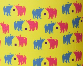 Bear Pair Fabric by the Metre