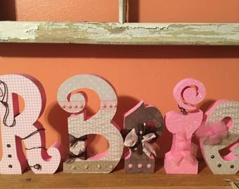 Custom Wood Letters. Baby Nursery Decor. Wedding Decor.