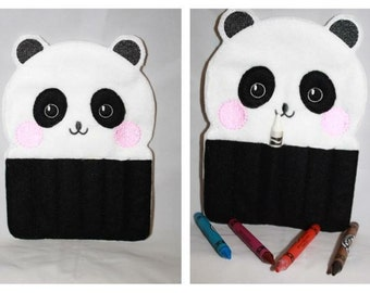 Panda crayon holder