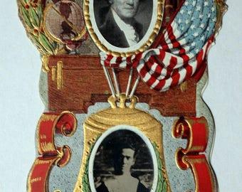 Die-Cut, Patriotic, Granite County Washington High School Souvenir C1910