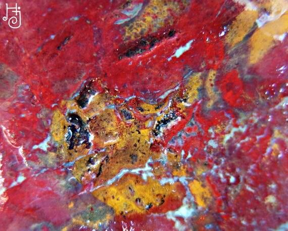 Red And Yellow Jasper Gemstone Orphic Jasper Stone Raw