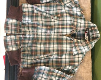 Vintage Plaid Members Only Style Toddler Jacket Size 3 / Ely And Walker Plaid Zip Up Childs Jacket