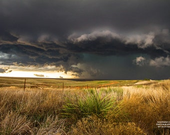 Texas Plains Print, Texas Panhandle Art, Photo of Storms, Great Plains Photo, Weather Photography, Thunderstorm Photo, Thunderstorm Art
