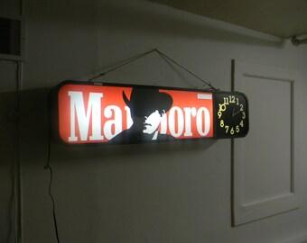 Promotional Vintage Marlboro Lighted Sign