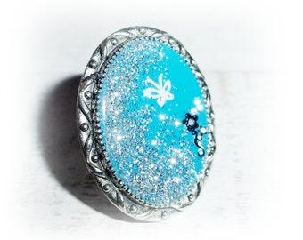 Ring, turquoise, nail art