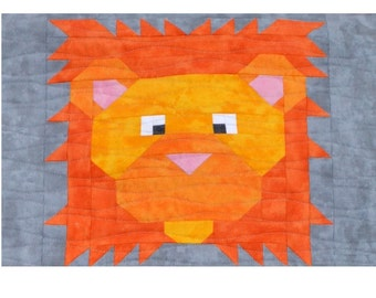 Lion quilt pattern | Etsy : lion quilt pattern - Adamdwight.com