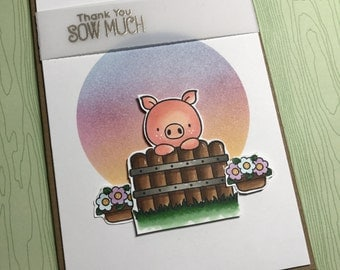 Pig Thank you Card - Thank you sow much