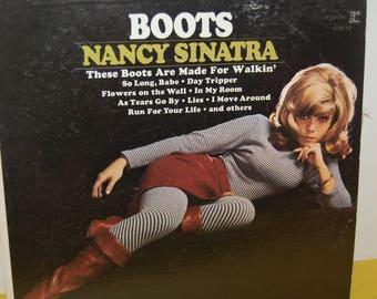 """Vintage Record Album """"Boots"""" Nancy Sinatra. Retro Vinyl Record"""