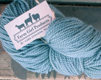 Blue Faced Leicester/alpaca/merino worsted weight yarn