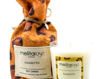 Amaretto Soy Scented Candle in Beautiful Gift Bag