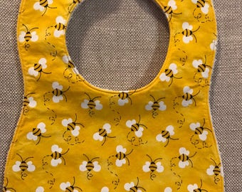 Baby Bib in Yellow Bees