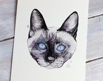 Cat | A5 Giclée Print