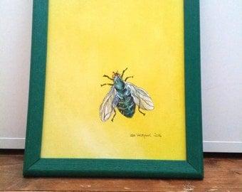 Fly (original acrylic painting)