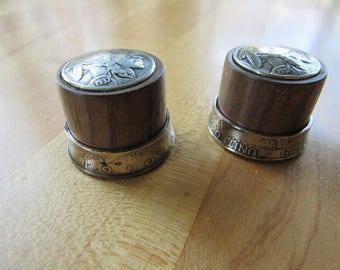 Custom walnut and Indian head nickel.