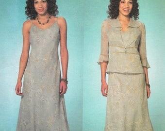 Butterick David Warren Pattern 4126 JACKET & PULLOVER DRESS Misses Sizes 18 20 22
