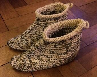 Cotton slipper boots