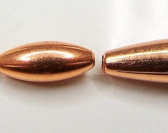 Real Copper Beads Oval  3x5mm - 3x7mm - 4x9mm - 5x19mm