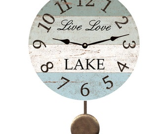 Live Love Lake Pendulum Clock