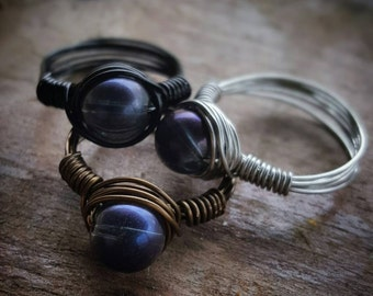 Transparent Iridescence® Copper Wire Ring