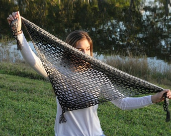 Crochet triangle scarf. Crochet scarf shawl.  Multicolor handmade scarf.